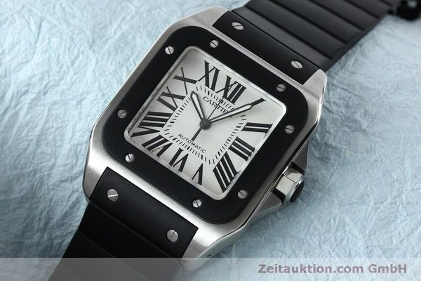 Used luxury watch Cartier Santos 100 steel automatic Kal. 049 ETA 2892A2  | 152080 01