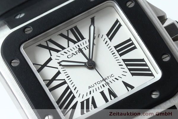 Used luxury watch Cartier Santos 100 steel automatic Kal. 049 ETA 2892A2  | 152080 02
