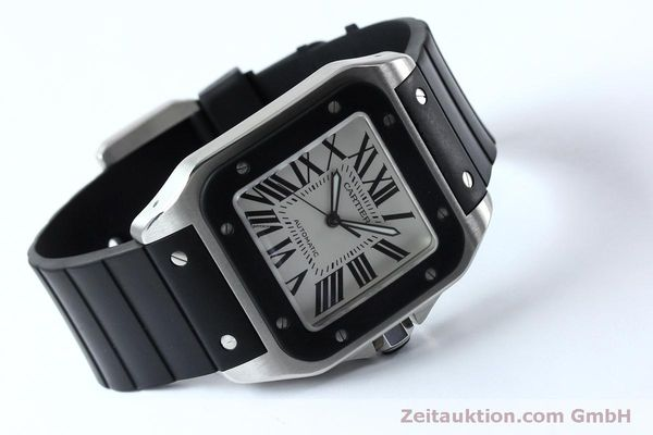 Used luxury watch Cartier Santos 100 steel automatic Kal. 049 ETA 2892A2  | 152080 03