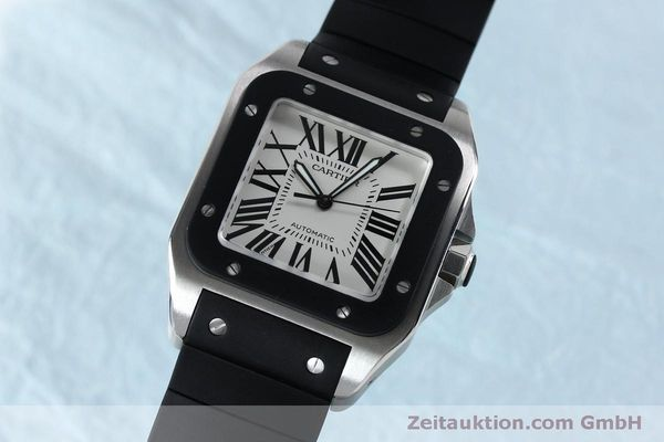 Used luxury watch Cartier Santos 100 steel automatic Kal. 049 ETA 2892A2  | 152080 04