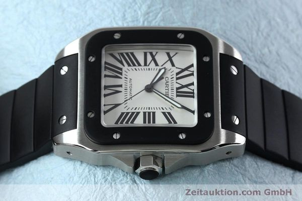 Used luxury watch Cartier Santos 100 steel automatic Kal. 049 ETA 2892A2  | 152080 05