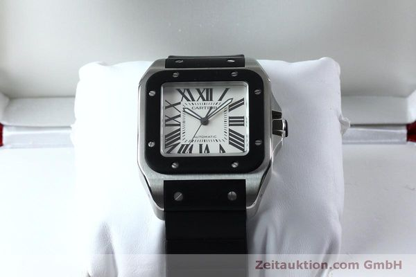 Used luxury watch Cartier Santos 100 steel automatic Kal. 049 ETA 2892A2  | 152080 07