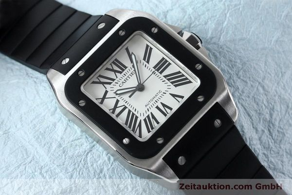 Used luxury watch Cartier Santos 100 steel automatic Kal. 049 ETA 2892A2  | 152080 16
