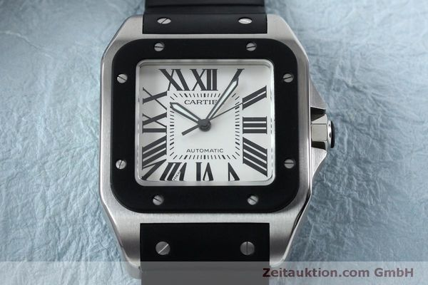 Used luxury watch Cartier Santos 100 steel automatic Kal. 049 ETA 2892A2  | 152080 17