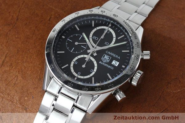 Used luxury watch Tag Heuer Carrera chronograph steel automatic Kal. 16 ETA 7750 Ref. CV2016-2  | 152089 01