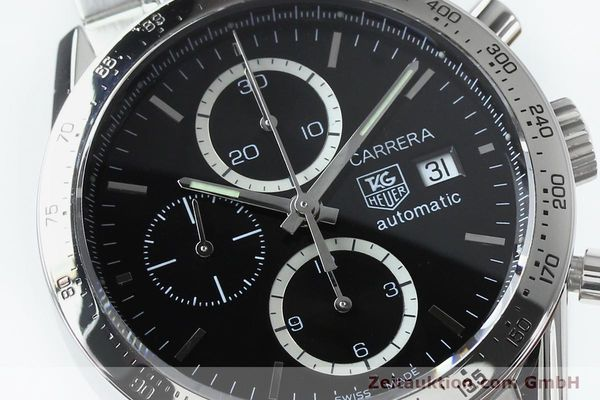 Used luxury watch Tag Heuer Carrera chronograph steel automatic Kal. 16 ETA 7750 Ref. CV2016-2  | 152089 02