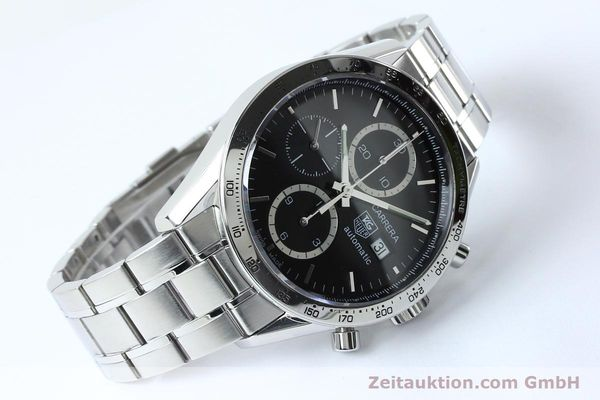 Used luxury watch Tag Heuer Carrera chronograph steel automatic Kal. 16 ETA 7750 Ref. CV2016-2  | 152089 03