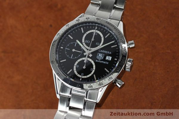 Used luxury watch Tag Heuer Carrera chronograph steel automatic Kal. 16 ETA 7750 Ref. CV2016-2  | 152089 04