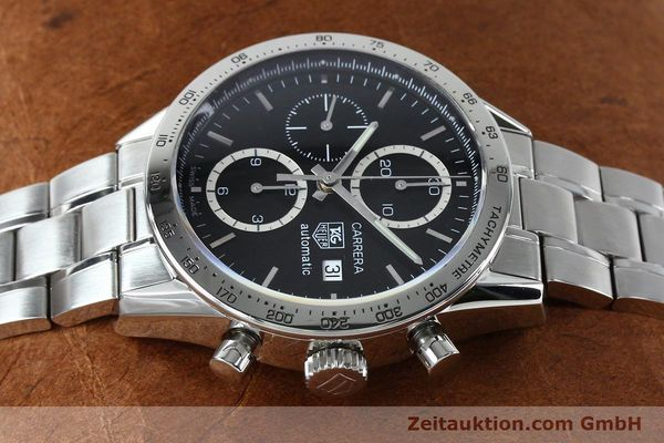 Used luxury watch Tag Heuer Carrera chronograph steel automatic Kal. 16 ETA 7750 Ref. CV2016-2  | 152089 05