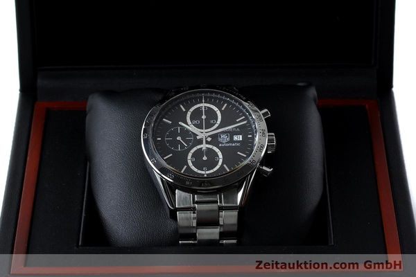 Used luxury watch Tag Heuer Carrera chronograph steel automatic Kal. 16 ETA 7750 Ref. CV2016-2  | 152089 07