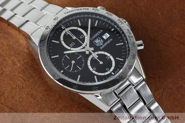Used luxury watch Tag Heuer Carrera chronograph steel automatic Kal. 16 ETA 7750 Ref. CV2016-2  | 152089 14