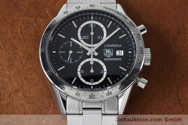 Used luxury watch Tag Heuer Carrera chronograph steel automatic Kal. 16 ETA 7750 Ref. CV2016-2  | 152089 15