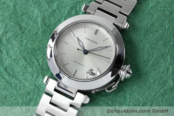 Used luxury watch Cartier Pasha steel automatic Kal. 049 ETA 2892A2  | 152090 01