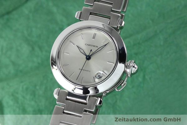 Used luxury watch Cartier Pasha steel automatic Kal. 049 ETA 2892A2  | 152090 04