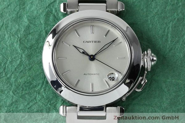 Used luxury watch Cartier Pasha steel automatic Kal. 049 ETA 2892A2  | 152090 15