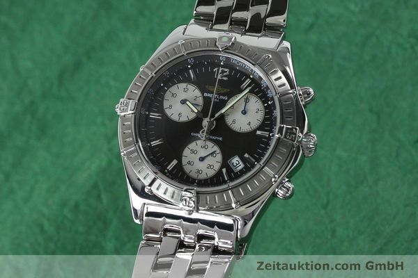 Used luxury watch Breitling Sirius chronograph steel quartz Kal. B53 ETA 251262 Ref. A53011  | 152097 04