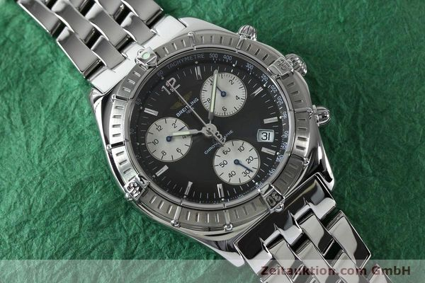 Used luxury watch Breitling Sirius chronograph steel quartz Kal. B53 ETA 251262 Ref. A53011  | 152097 14