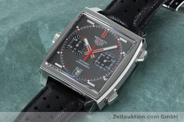 Used luxury watch Tag Heuer Monaco chronograph steel automatic Kal. 11 Ref. CAW211B LIMITED EDITION | 152113 01