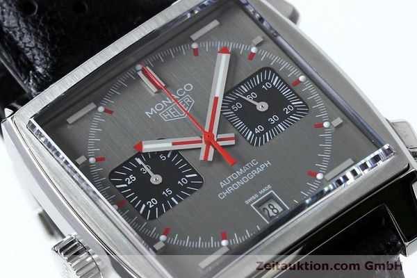 Used luxury watch Tag Heuer Monaco chronograph steel automatic Kal. 11 Ref. CAW211B LIMITED EDITION | 152113 02