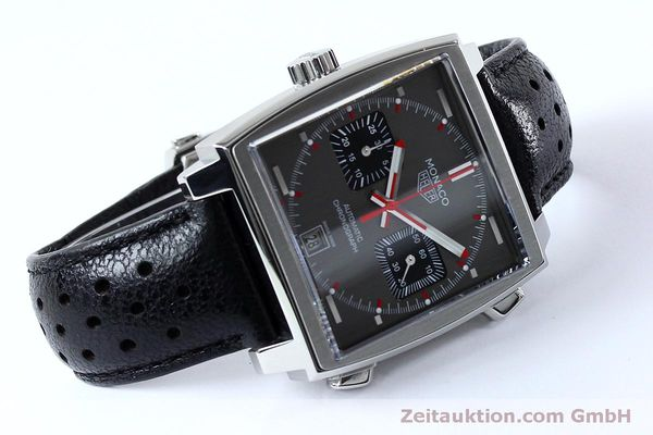 Used luxury watch Tag Heuer Monaco chronograph steel automatic Kal. 11 Ref. CAW211B LIMITED EDITION | 152113 03