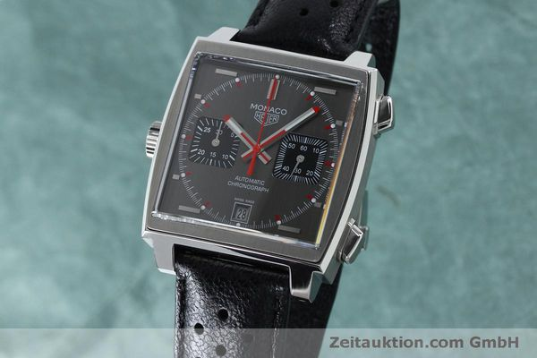 Used luxury watch Tag Heuer Monaco chronograph steel automatic Kal. 11 Ref. CAW211B LIMITED EDITION | 152113 04