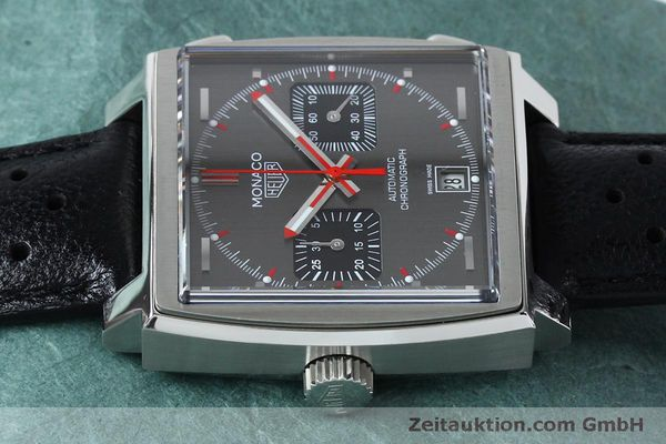 Used luxury watch Tag Heuer Monaco chronograph steel automatic Kal. 11 Ref. CAW211B LIMITED EDITION | 152113 05