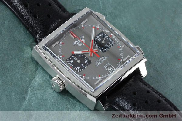 Used luxury watch Tag Heuer Monaco chronograph steel automatic Kal. 11 Ref. CAW211B LIMITED EDITION | 152113 14