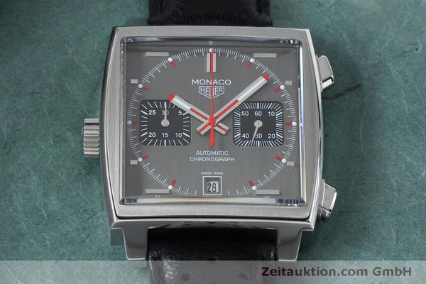 Used luxury watch Tag Heuer Monaco chronograph steel automatic Kal. 11 Ref. CAW211B LIMITED EDITION | 152113 15
