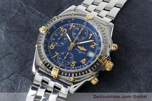 Used luxury watch Breitling Chronomat chronograph steel / gold automatic Kal. B13 ETA 7750 Ref. B13050.1  | 152117 01