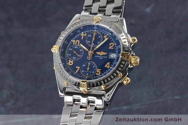 Used luxury watch Breitling Chronomat chronograph steel / gold automatic Kal. B13 ETA 7750 Ref. B13050.1  | 152117 04