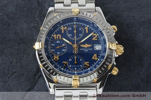 Used luxury watch Breitling Chronomat chronograph steel / gold automatic Kal. B13 ETA 7750 Ref. B13050.1  | 152117 16