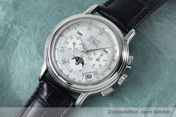 Used luxury watch Zenith Elprimero chronograph steel automatic Kal. 10133 410 Ref. 01.0240.410  | 152138 01
