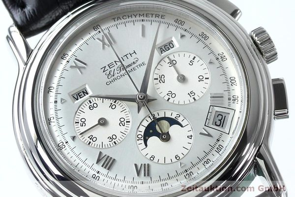 Used luxury watch Zenith Elprimero chronograph steel automatic Kal. 10133 410 Ref. 01.0240.410  | 152138 02