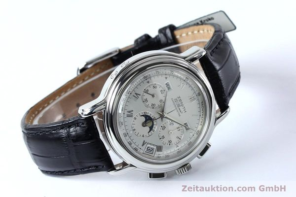 Used luxury watch Zenith Elprimero chronograph steel automatic Kal. 10133 410 Ref. 01.0240.410  | 152138 03