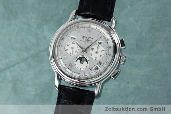 Used luxury watch Zenith Elprimero chronograph steel automatic Kal. 10133 410 Ref. 01.0240.410  | 152138 04