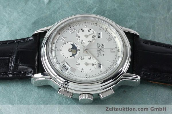Used luxury watch Zenith Elprimero chronograph steel automatic Kal. 10133 410 Ref. 01.0240.410  | 152138 05
