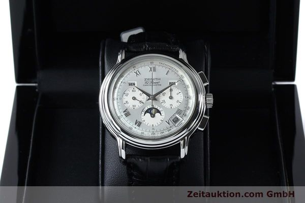 Used luxury watch Zenith Elprimero chronograph steel automatic Kal. 10133 410 Ref. 01.0240.410  | 152138 07