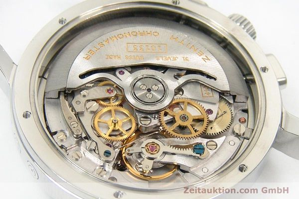Used luxury watch Zenith Elprimero chronograph steel automatic Kal. 10133 410 Ref. 01.0240.410  | 152138 09