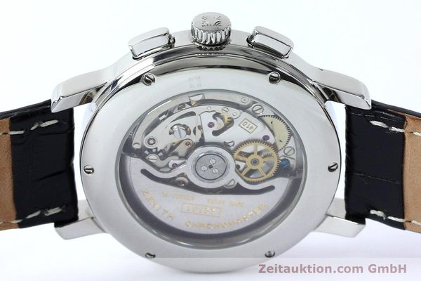 Used luxury watch Zenith Elprimero chronograph steel automatic Kal. 10133 410 Ref. 01.0240.410  | 152138 10