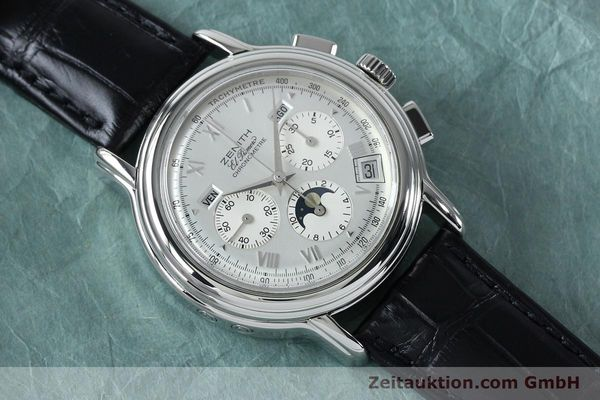 Used luxury watch Zenith Elprimero chronograph steel automatic Kal. 10133 410 Ref. 01.0240.410  | 152138 16