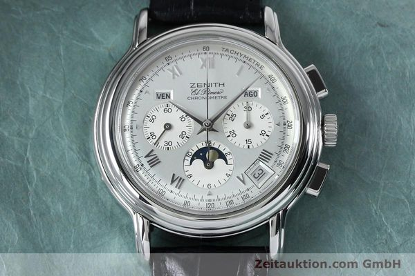 Used luxury watch Zenith Elprimero chronograph steel automatic Kal. 10133 410 Ref. 01.0240.410  | 152138 17