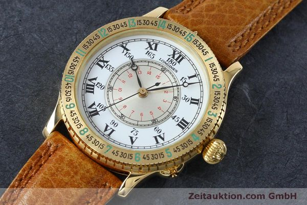 Used luxury watch Longines Lindbergh Stundenwinkel 18 ct gold automatic Kal. L989.2 Ref. 989.5216  | 152142 01