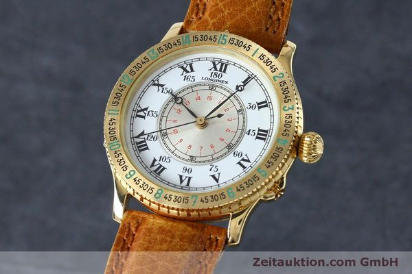 Used luxury watch Longines Lindbergh Stundenwinkel 18 ct gold automatic Kal. L989.2 Ref. 989.5216  | 152142 04