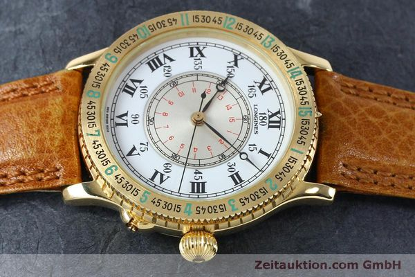 Used luxury watch Longines Lindbergh Stundenwinkel 18 ct gold automatic Kal. L989.2 Ref. 989.5216  | 152142 05