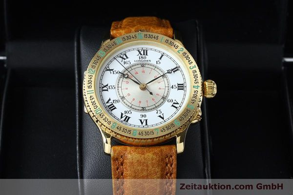 Used luxury watch Longines Lindbergh Stundenwinkel 18 ct gold automatic Kal. L989.2 Ref. 989.5216  | 152142 07