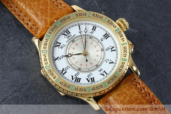 Used luxury watch Longines Lindbergh Stundenwinkel 18 ct gold automatic Kal. L989.2 Ref. 989.5216  | 152142 16