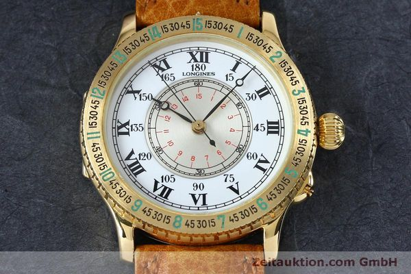 Used luxury watch Longines Lindbergh Stundenwinkel 18 ct gold automatic Kal. L989.2 Ref. 989.5216  | 152142 17