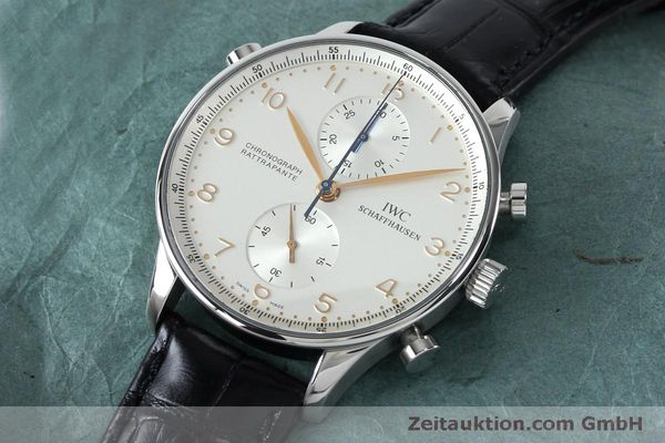 Used luxury watch IWC Portugieser chronograph steel manual winding Kal. 76240 Ref. 3712  | 152144 01