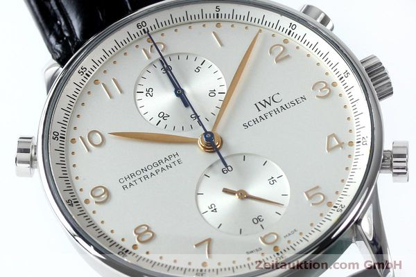 Used luxury watch IWC Portugieser chronograph steel manual winding Kal. 76240 Ref. 3712  | 152144 02