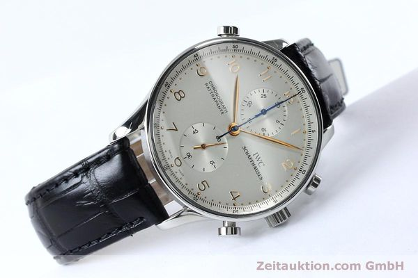 Used luxury watch IWC Portugieser chronograph steel manual winding Kal. 76240 Ref. 3712  | 152144 03